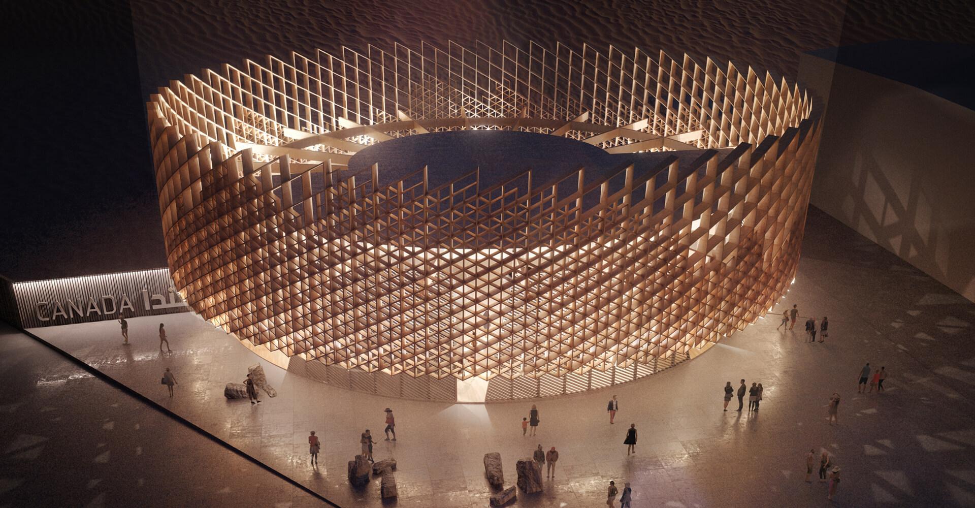 The Canada Pavilion (night) | Le Pavillon du Canada (nuit)