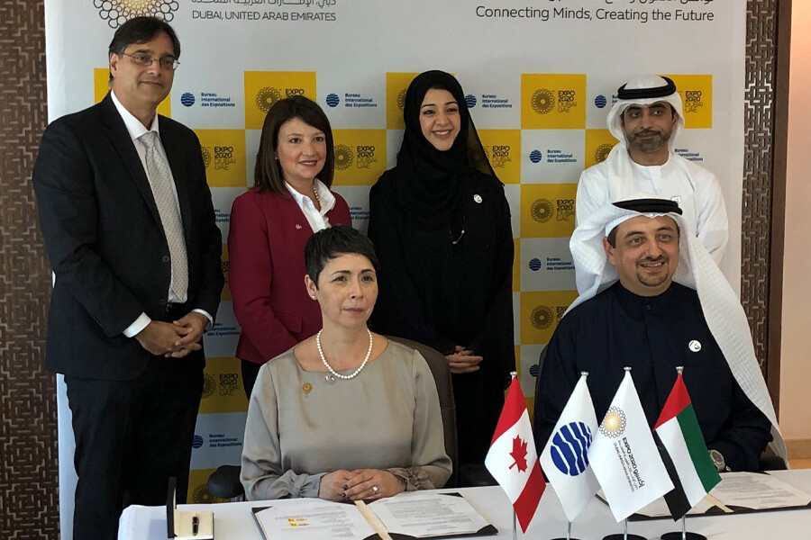 Canada signs the participation contract for Expo 2020 Dubai